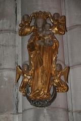 Eglise - Français:   statue église
