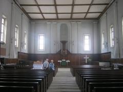 Temple protestant Saint-Martin - English:   Altar room of the Temple Saint-Martin at Montbéliard, France, architect Heinrich Schickhardt