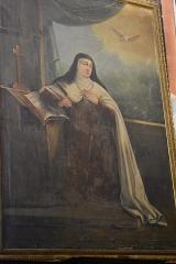 Cathédrale Saint-Michel et abords - Français:   Chapelle de Sainte Anne de la Cathédrale Saint-Michel de Carcassonne: tableau représentant Sainte Thérèse d\'Avila.