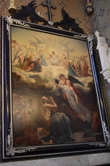 Eglise Saint-Michel - Français:   Peinture de la Collégiale Saint-Michel de Castelnaudary: le jugement des âmes, par Louis Jacquesson de la Chevreuse, 1864.