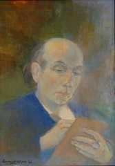 Immeuble - Français:   The writer Joë Bousquet, painted in 1943 by his friend Jean Camberoque.