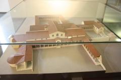 Villa gallo-romaine de Saint-Ulrich - Français:   Maquette n°1 de la villa de Saint-Ulrich exposée au musée du de pays Sarrebourg (Moselle, Grand-Est, France).