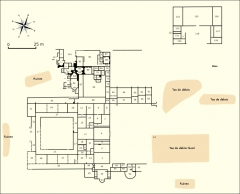 Villa gallo-romaine de Saint-Ulrich - Français:   Plan d\'ensemble de la villa gallo-romaine de Saint-Ulrich (Moselle, Grand-Est, France).