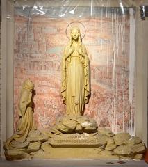 Eglise Saint-Martin - Français:   Sculpture Notre-Dame de Lourdes et Bernadette Eglise Saint-Martin de Bergues