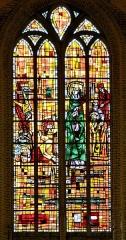 Eglise Saint-Martin - English:   Vitrail de Saint-Winoc Eglise Saint-Martin Bergues (Nord) par François Bertrand
