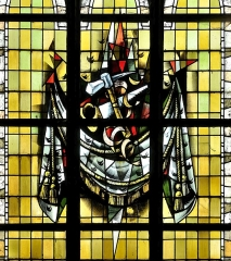 Eglise Saint-Martin - Français:   Vitrail des confréries-04 par Max Ingrand Eglise Saint-Martin de Bergues