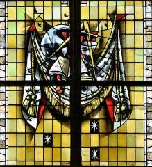 Eglise Saint-Martin - Français:   Vitrail des confréries-08 par Max Ingrand Eglise Saint-Martin de Bergues