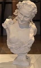 """Château d'Aumont -   Boulogne-sur-Mer (Pas-de-Calais) - Le château-musée - """"Bacchante aux vignes"""" (Jean-Baptiste Carpeaux, 1827-1875) (plâtre original, XIXe). .  Legs de charles Lebeau, 1916"""