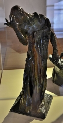 """Château d'Aumont -   Boulogne-sur-Mer (Pas-de-Calais) - Le château-musée - """"Bourgeois de Calais"""" (Auguste Rodin, 1840-1917) (bronze, fin XIXe). . Legs de charles Lebeau, 1916  <a href=\"""