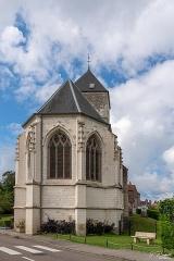 Eglise Saint-Martin - Français:   Le cœur vu de la rue du centre