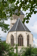 Eglise Saint-Martin - Français:   Le cœur vu du moulin de Dannes