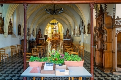 Eglise Saint-Martin - Français:   La nef et le cœur vus de l\'entrée de l\'église de Dannes