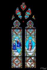 Eglise Saint-Martin - Français:   Vitrail n°5 de gauche dans la nef de l\'église de Dannes