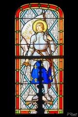 Eglise Saint-Martin - Français:   Vitrail n°1 de droite dans la nef de l\'église de Dannes