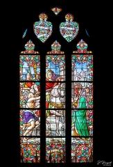Eglise Saint-Martin - Français:   Vitrail central du cœur de l\'église de Dannes représentant Saint Martin