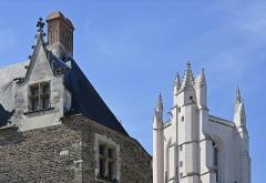Cathédrale Saint-Pierre Saint-Paul - Français:   La porte Saint-Pierre et la tour nord de la cathédrale Saint-Pierre-et-Saint-Paul de Nantes, Loire-Atlantique