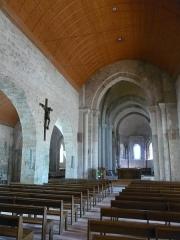 Eglise Saint-Philibert - Français:   Nef principale, romane, de l\'église Saint Philibert de Beauvoir-sur-Mer