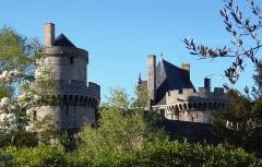 Ancien château - Français:   Alençon (Normandie, France). Le château des Ducs vu du jardin expérimental.