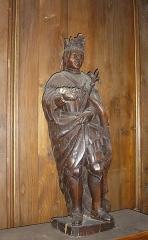 Ancien couvent des Ursulines - Français:   Vire (Normandie, France). La statue de saint Louis dans la chapelle Saint-Louis.