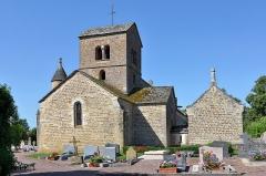 Eglise Saint-Cyr et Sainte-Julitte - Français:   Église Saint-Cyr-et-Sainte-Julitte de Clamerey vue depuis le cimetière