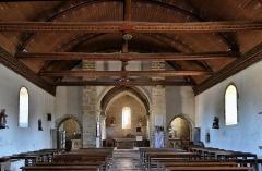 Eglise Saint-Cyr et Sainte-Julitte - Français:   Nef Église Saint-Cyr-et-Sainte-Julitte de Clamerey