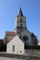 Château - Français:   Extérieur de l\'église Saint-Symphorien d\'Époisses (21). Chevet.