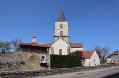 Château - Français:   Extérieur de l\'église Saint-Symphorien d\'Époisses (21). Flanc sud.