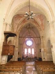 Château - Français:   Photographie de la nef et du chœur de l\'église Saint-Symphorien d\'Époisses (21).
