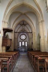 Château - Français:   Intérieur de l\'église Saint-Symphorien d\'Époisses (21). Nef.