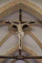 Château - Français:   Intérieur de l\'église Saint-Symphorien d\'Époisses (21). Crucifix.