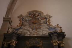 Château - Français:   Intérieur de l\'église Saint-Symphorien d\'Époisses (21). Autel et retable de la Vierge.