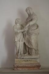 Château - Français:   Intérieur de l\'église Saint-Symphorien d\'Époisses (21). Statue de l\'éducation de la Vierge par Sainte-Anne.
