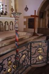 Château - Français:   Intérieur de l\'église Saint-Symphorien d\'Époisses (21). Chandelier pascal.