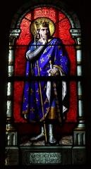 Château - Français:   Intérieur de l\'église Saint-Symphorien d\'Époisses (21). Baie 04. Saint-Louis. Maître-verrier: Claudius Lavergne.