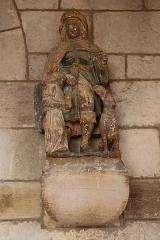 Eglise Saint-Vallier de Messigny - Français:   Église Saint Vallier de Messigny-et-Vantoux (21). Statue de Saint-Roch ornant le porche occidental.