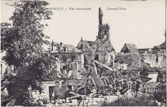 Eglise - Français:   Carte postale ancienne éditée par B. Nougarède et H. Lestrat à Soissons: VAILLY - Vue d\'ensemble