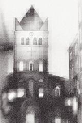 Eglise Saint-Martin-d'Ainay - English:   Basilica of Saint-Martin d\'Ainay, deformed with a lensbaby & Picasa-squares