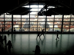 Hôtel de ville - English:   View of Lyon city hall from the dance studio at the top of the opera