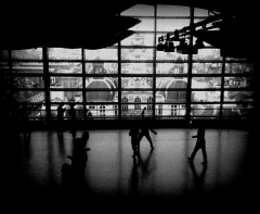 Hôtel de ville - English:   View of Lyon city hall from the ballet studio at the top of the opera
