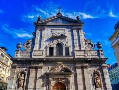 Eglise Notre-Dame - Deutsch:   Fassade der Kirche St. Maria, Chambéry, Département Savoyen, Region Auvergne-Rhône-Alpes (ehemals Rhône-Alpes), Frankreich