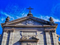 Eglise Notre-Dame - Deutsch:   Giebel der Kirche St. Maria, Chambéry, Département Savoyen, Region Auvergne-Rhône-Alpes (ehemals Rhône-Alpes), Frankreich