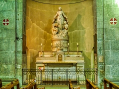 Eglise Notre-Dame - Deutsch:   ein Seitenaltar der Kirche St. Maria, Chambéry, Département Savoyen, Region Auvergne-Rhône-Alpes (ehemals Rhône-Alpes), Frankreich