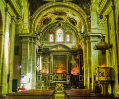 Eglise Notre-Dame - Deutsch:   Langhaus der Kirche St. Maria, Chambéry, Département Savoyen, Region Auvergne-Rhône-Alpes (ehemals Rhône-Alpes), Frankreich
