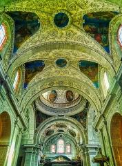 Eglise Notre-Dame - Deutsch:   Gewölbe der Kirche St. Maria, Chambéry, Département Savoyen, Region Auvergne-Rhône-Alpes (ehemals Rhône-Alpes), Frankreich
