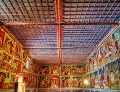 Chapelle Saint-Sébastien - Deutsch:   Langhaus der Kapelle St. Sebastian, Lanslevillard, Département Savoyen, Region Auvergne-Rhône-Alpes (ehemals Rhône-Alpes), Frankreich