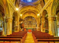 Eglise Saint-Michel - Deutsch:   Langhaus der Kirche St. Michael, Lanslevillard, Département Savoyen, Region Auvergne-Rhône-Alpes (ehemals Rhône-Alpes), Frankreich