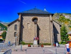 Eglise - Deutsch:   Chor der Kirche Marä Himmelfahrt, Valloire, Département Savoyen, Region Auvergne-Rhône-Alpes (ehemals Rhône-Alpes), Frankreich