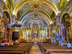 Eglise - Deutsch:   Langhaus der Kirche Marä Himmelfahrt, Valloire, Département Savoyen, Region Auvergne-Rhône-Alpes (ehemals Rhône-Alpes), Frankreich