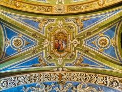 Eglise - Deutsch:   Gewölbe der Kirche Marä Himmelfahrt, Valloire, Département Savoyen, Region Auvergne-Rhône-Alpes (ehemals Rhône-Alpes), Frankreich