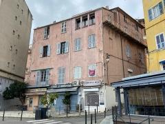 Immeuble dit Maison Castagnola - Français:   Casa Castagnola, Maison Castagnola, nant\'à u Vechju Portu di Bastia, quartieru di Terra Vechja.